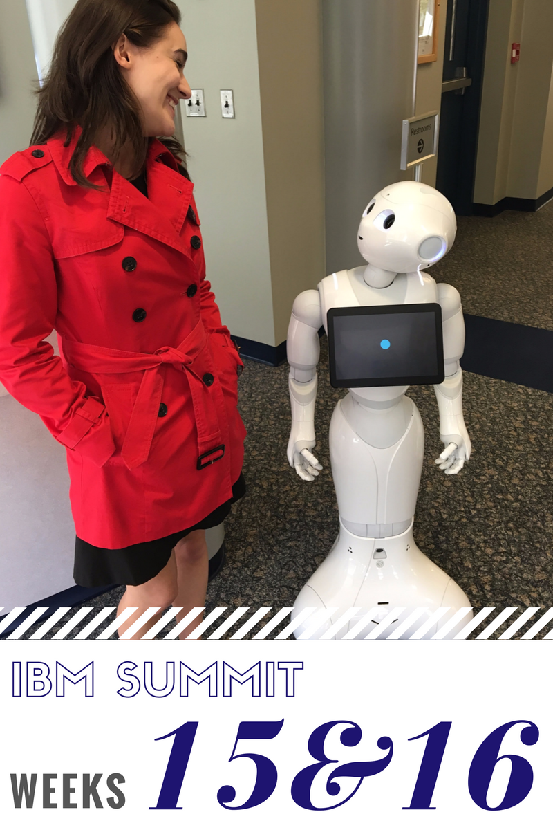 Click to read now or pin to save for later! These past two weeks included a data center tour, accepting a position on a landing team, and meeting Pepper! Check out how the IBM summit program is progressing