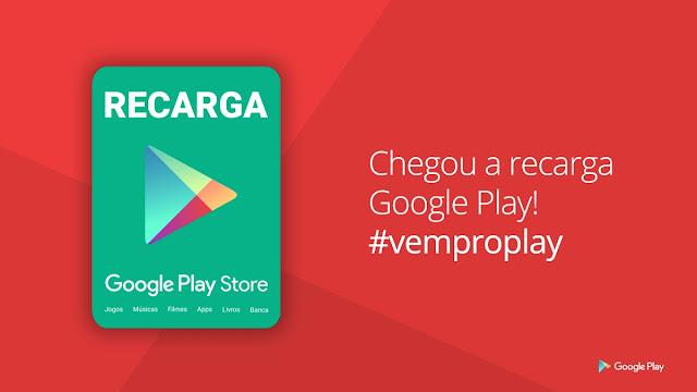 Play Store inaugura recarga no Brasil