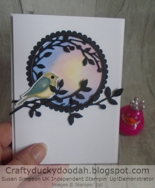 Craftyduckydoodah, Birds & Branches, Glycerin Background Technique, Stampin' Up,