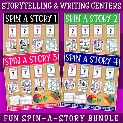 Image of a bundle of storytelling centers for first grade
