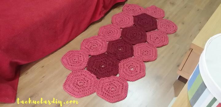 Tutorial alfombra trapillo con muestras de hexágonos ...