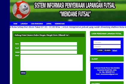 Aplikasi Futsal Untuk Penyewaan Lapangan Berbasis Web dan PHP MySQ Gratis