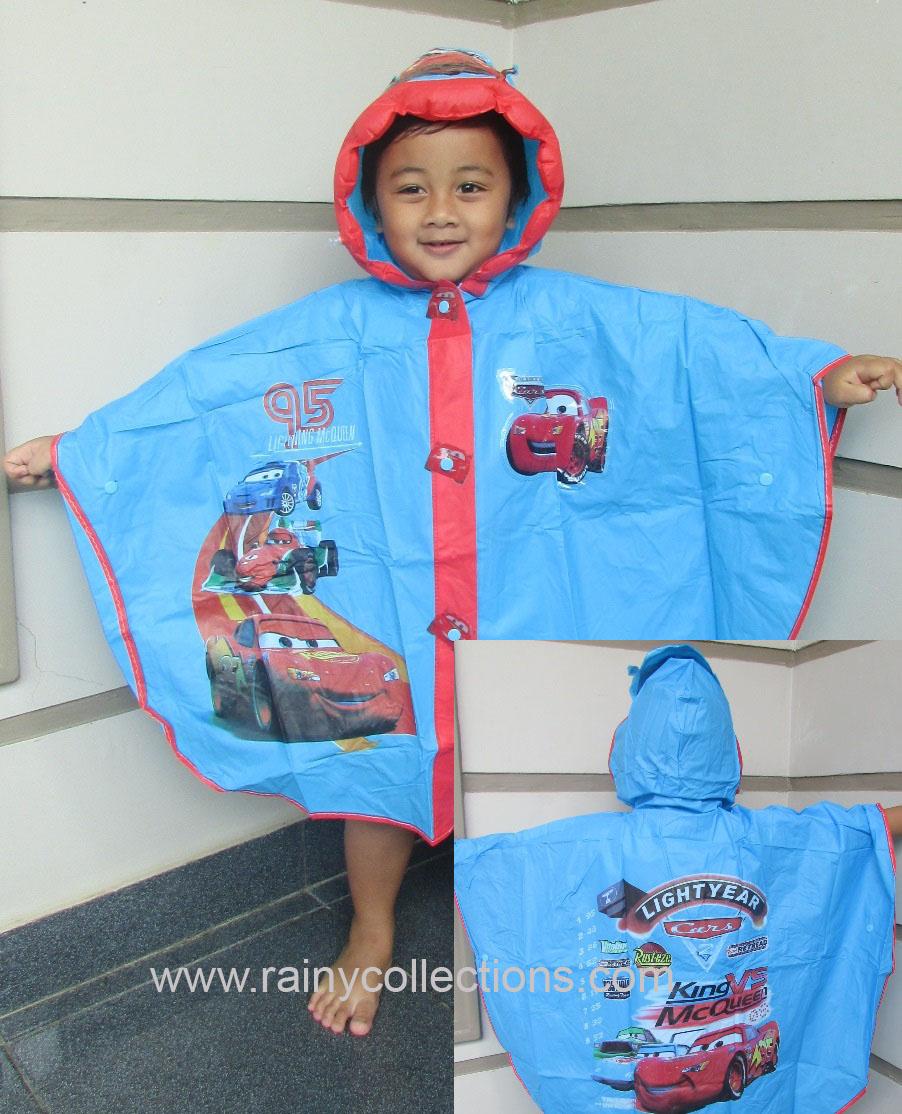 Rainy Collections Jas Hujan Karakter Anak Ujan Setelan Cars