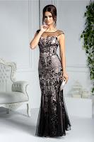 rochie-lunga-de-seara-din-tull-negru-cu-paiete-stralucitoare