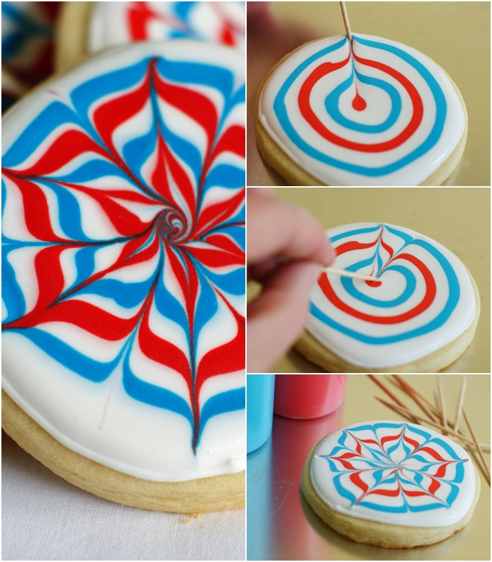 how to make the Martha Stewart fireworks cookies from magazine cover