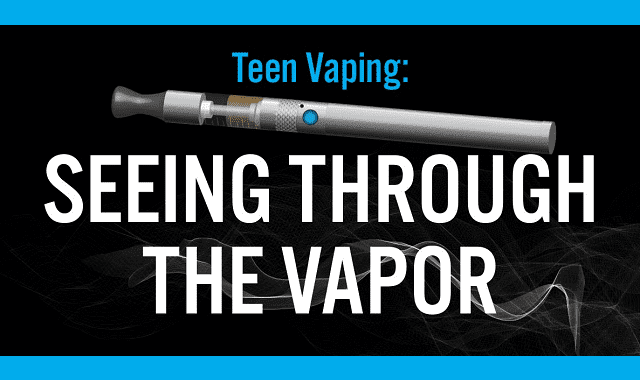 Teens and Vaping: Seeing Through The Vapor #Infographic