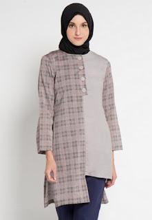 Desain baju muslim atasan kerja