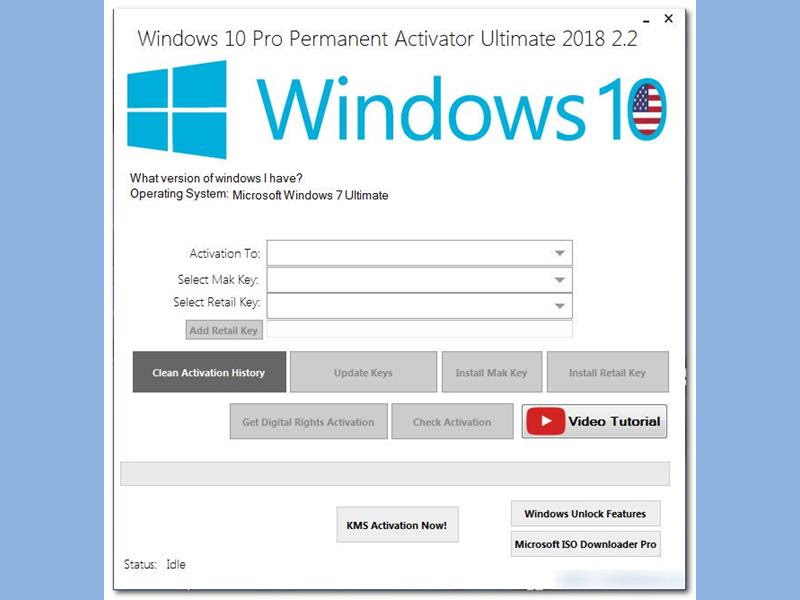 Windows 10 Pro Permanent Activator Ultimate 2018 v2.2 Full ...