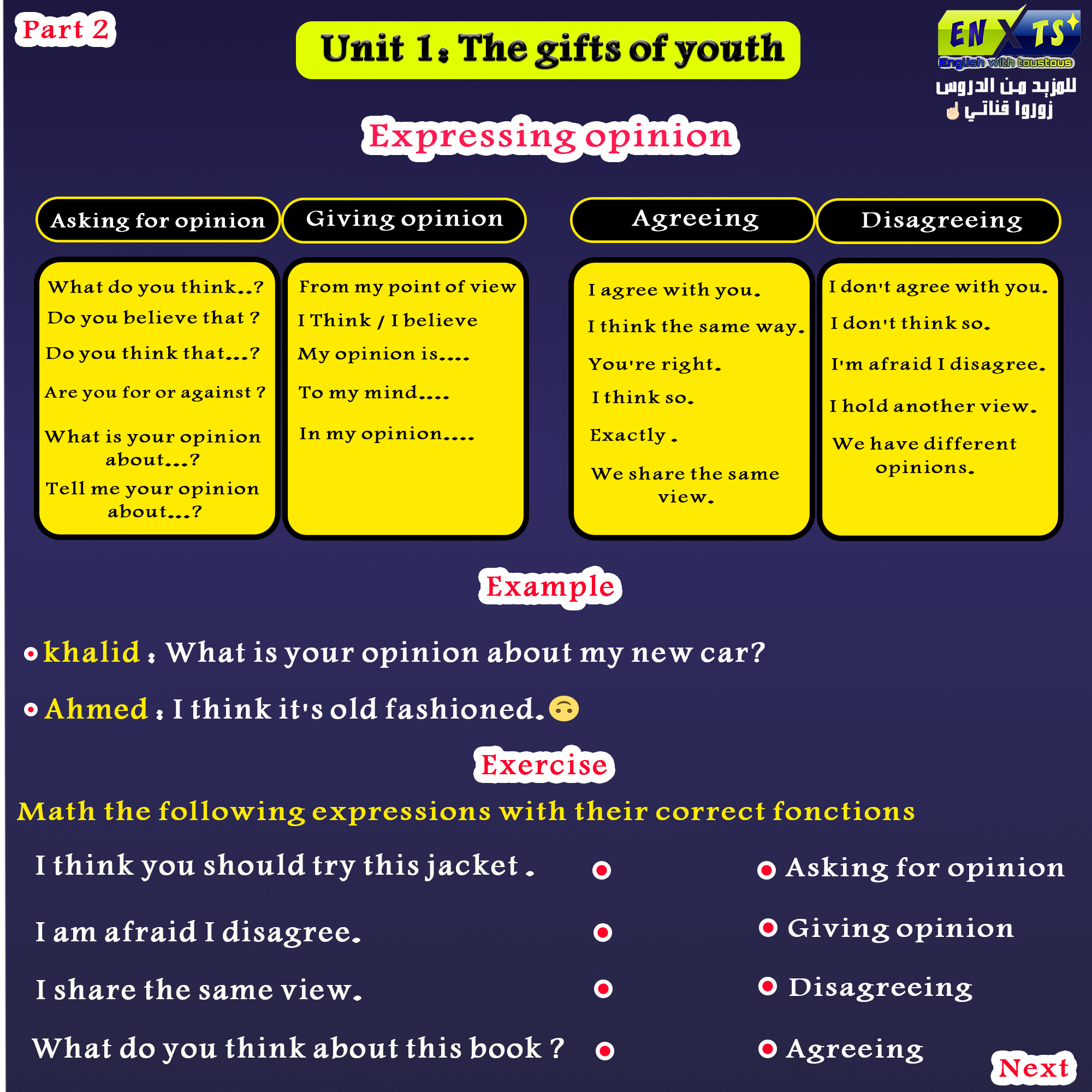 unit 1 gift of youth