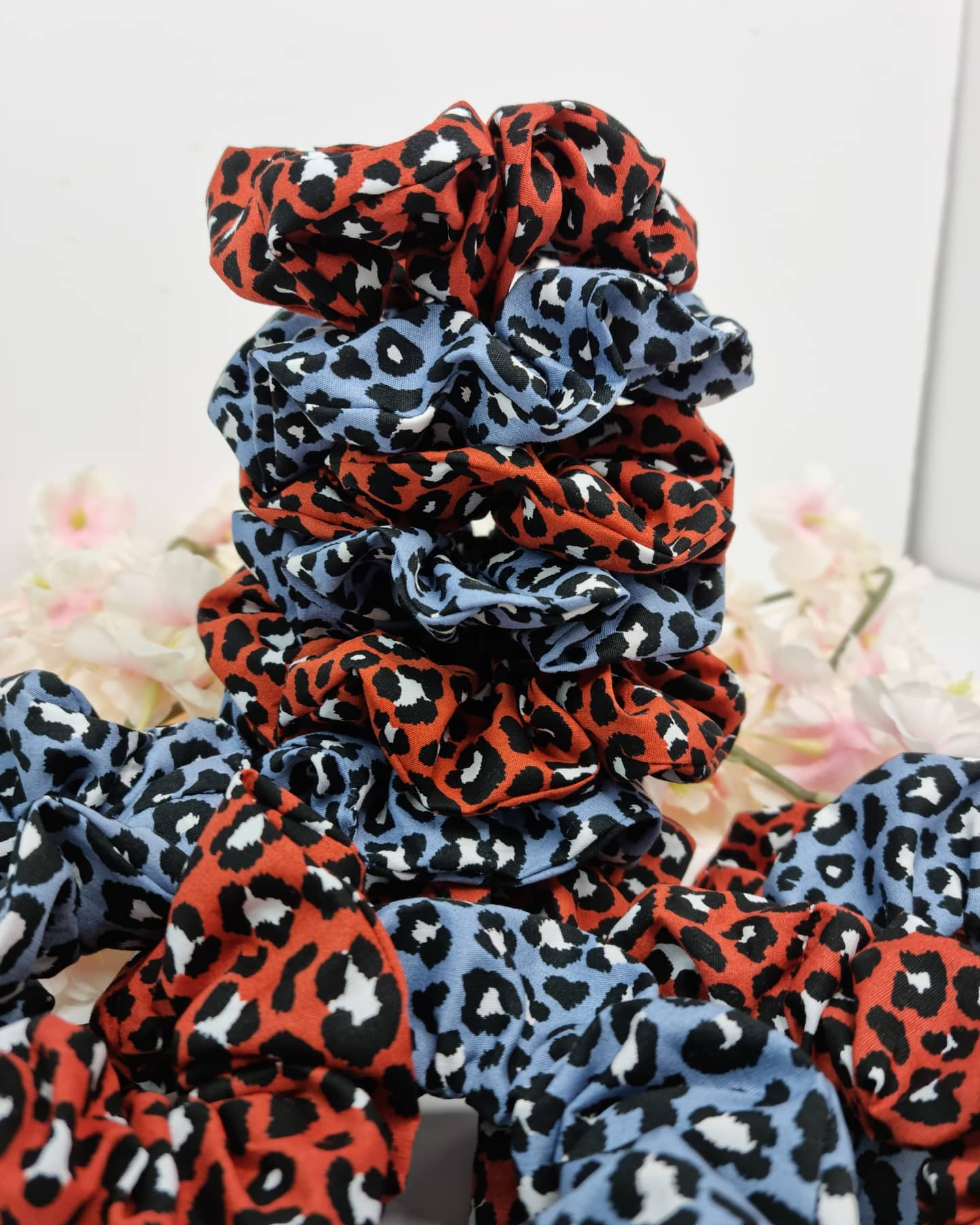 Sammi's Scrunchies patterned leopard stacked scrunchies