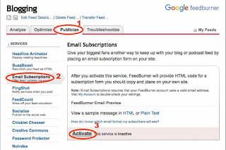 How to activate email subscription