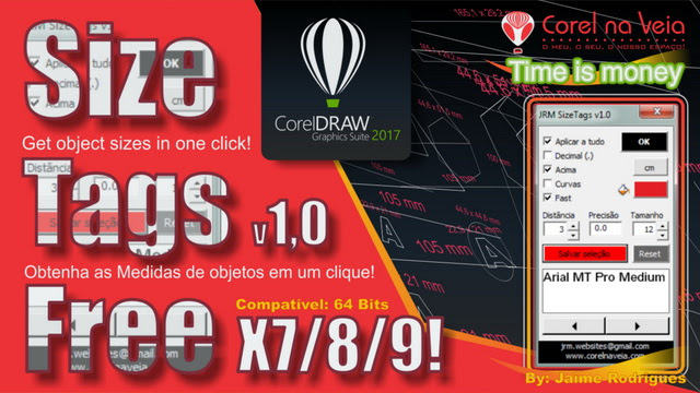 JRM Size Tags Macro FREE for CorelDRAW