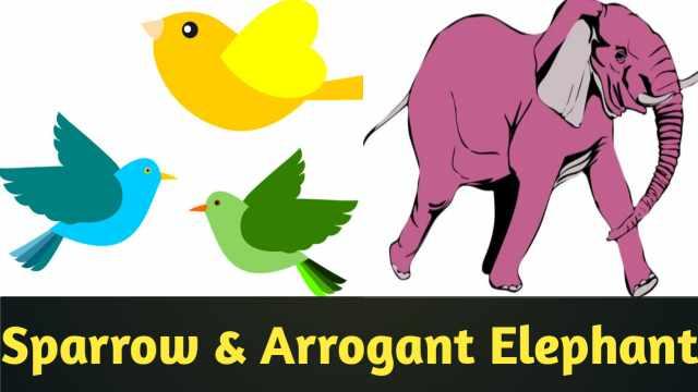 Sparrow and Arrogant Elephant, Goriya aur ghamandi hathi