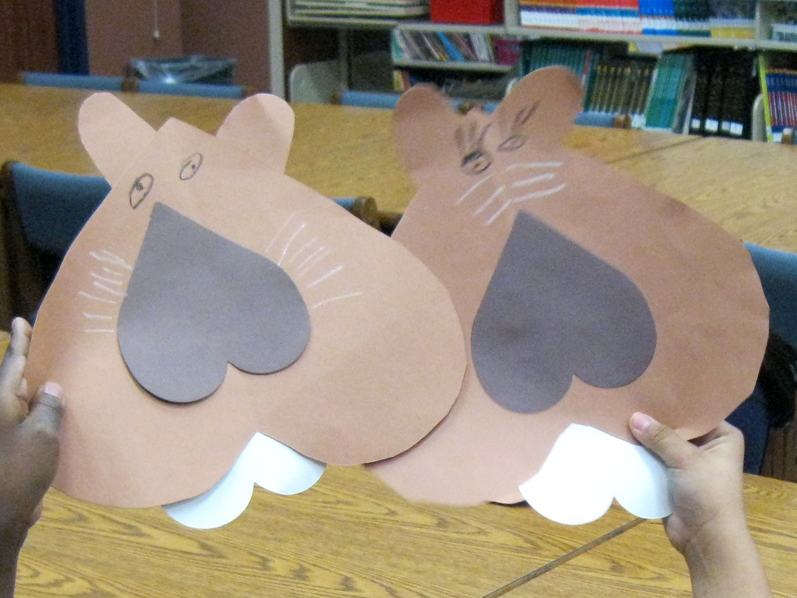 Librarianism Chronicles: Valentine Critter Crafts: Heart ...