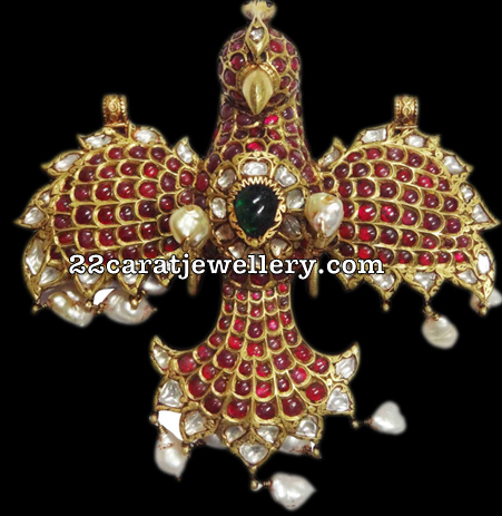 Eagle Pendant with Rubies