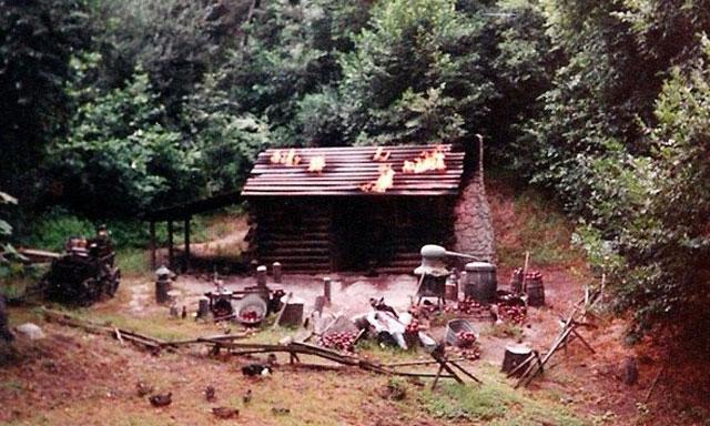 The-Burning-Settlers-Cabin-