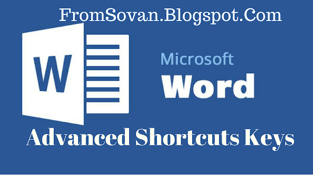 Advanced Microsoft Word Shortcuts Keys