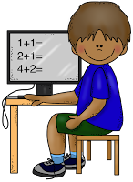 Student at a computer.
