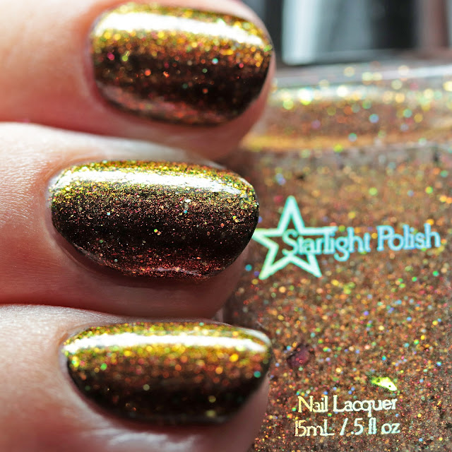 Starlight Polish Purifying Flames over black