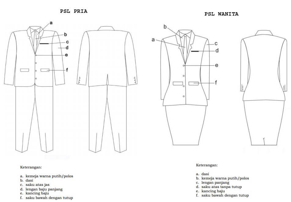 Aturan Pakaian Sipil Lengkap Psl Sesuai Dengan Peruntukannya Pengadaan Eprocurement
