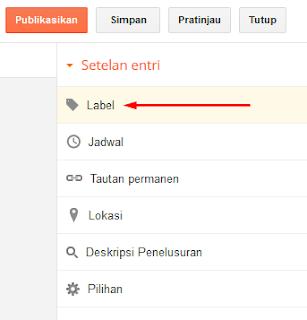 Memberi Label pada Postingan Blog