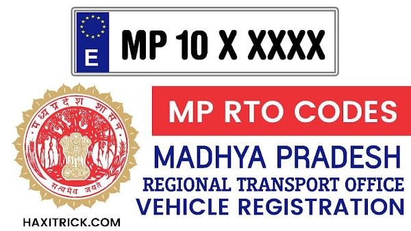 Madhya Pradesh MP RTO Codes List
