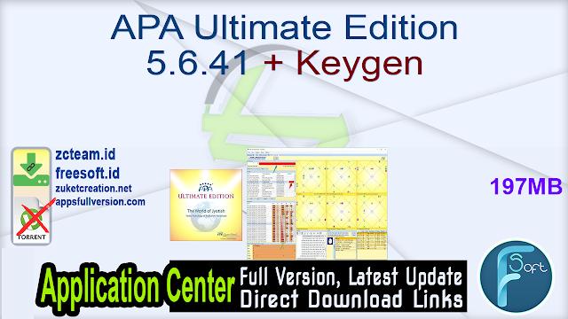 APA Ultimate Edition 5.6.41 + Keygen_ ZcTeam.id