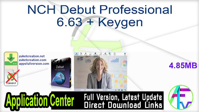 NCH Debut Professional 6.63 + Keygen