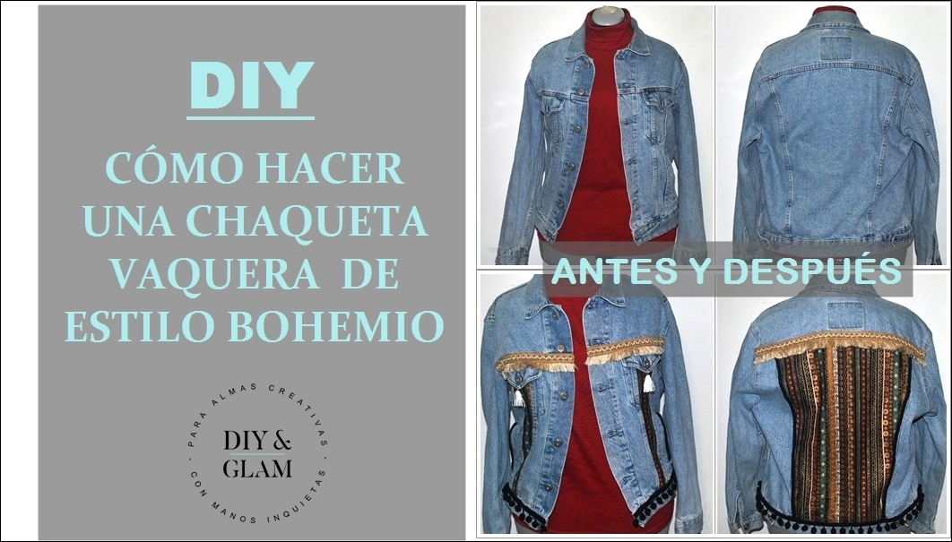 1a89144995a2 Cómo hacer una chaqueta vaquera de estilo bohemio - HANDBOX