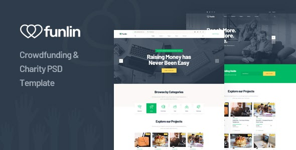 Best Crowdfunding & Charity PSD Template