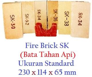 Bata Tahan Api SK Standard - Produk Refractory Fire Brick SK Berkualitas