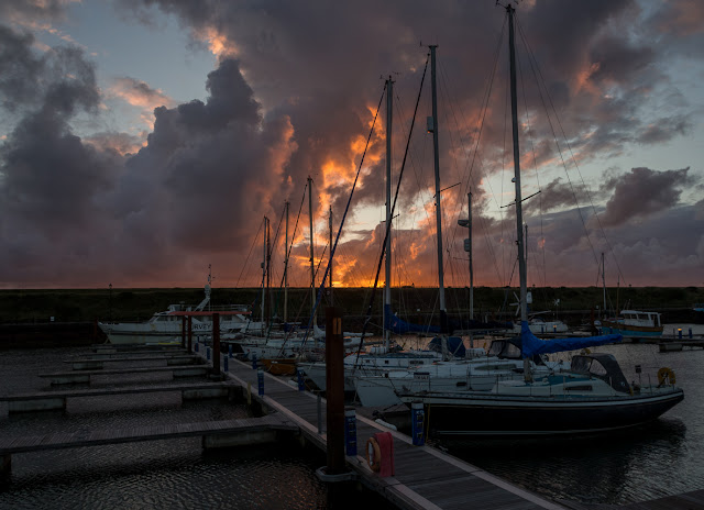 Photo of a sunset over the marina