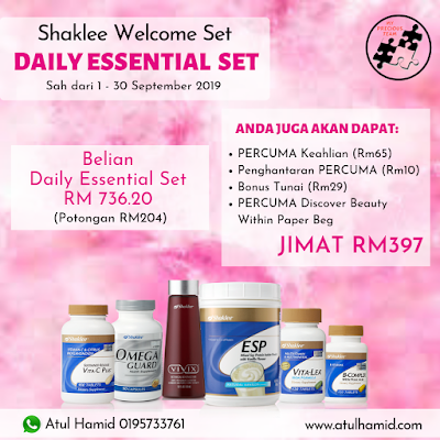 Promosi Shaklee Welcome Set