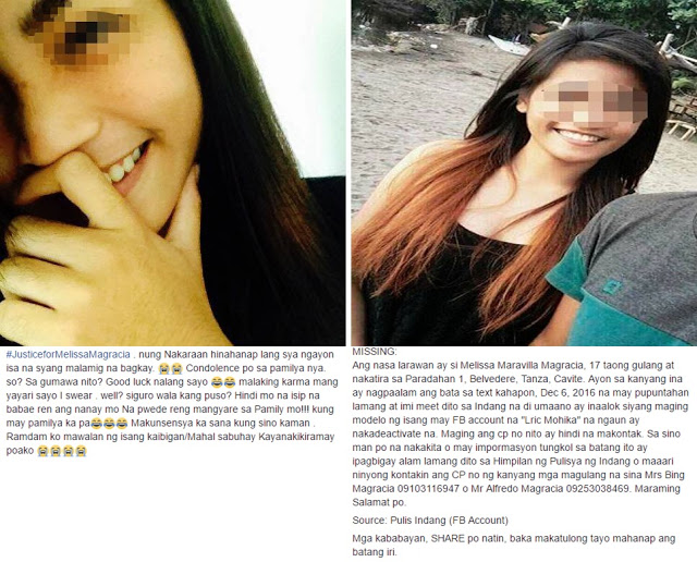 Teen who went missing after she met a man on Facebook was found lifeless.