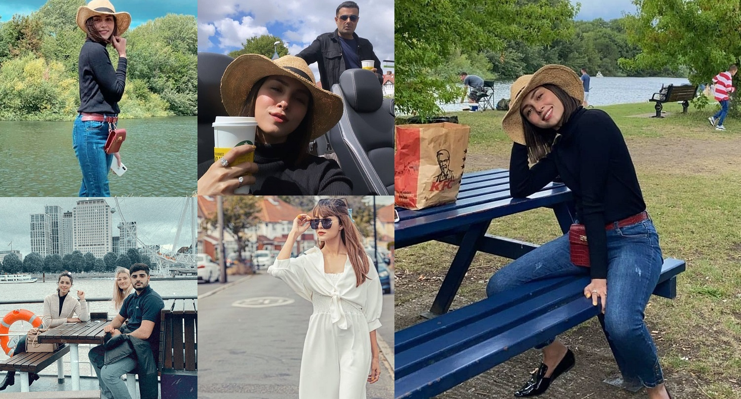 Latest Pictures of Nimra Khan with her Husband in London