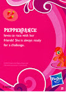 My Little Pony Wave 1 Pepperdance Blind Bag Card