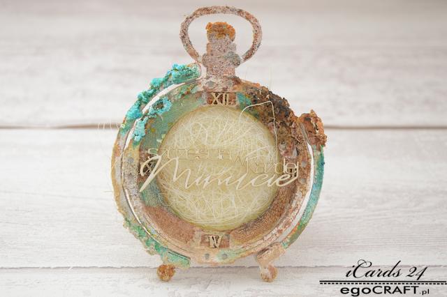 Męski zegar w stylu vintage