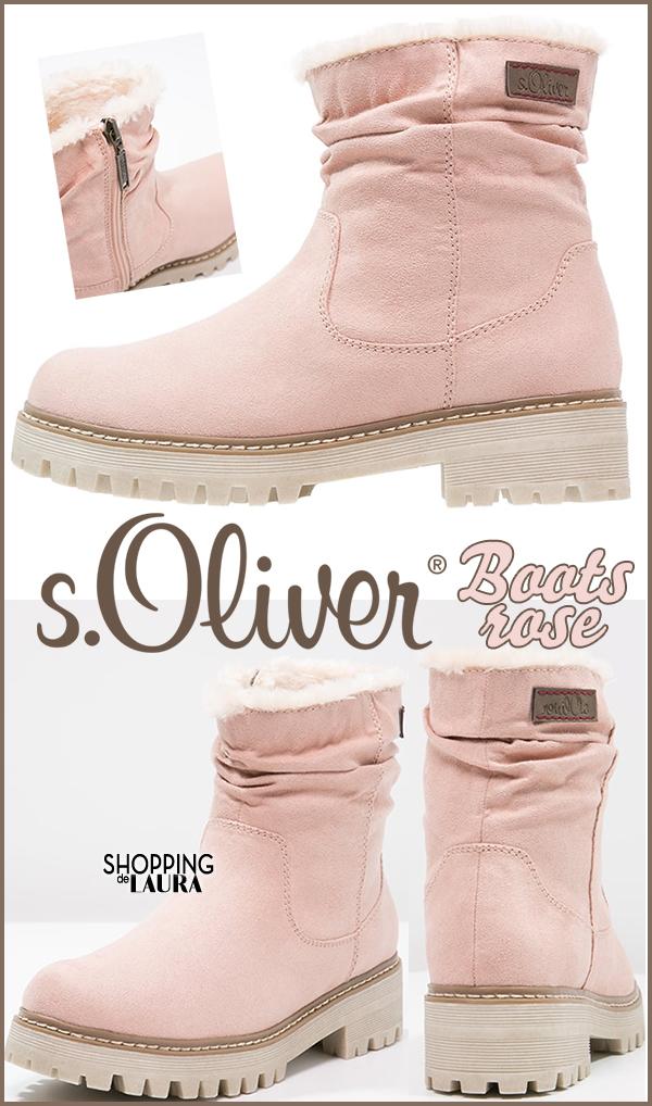 Boots et bottines roses femme : S.Oliver