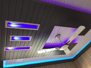 PVC panel Ceiling Design For bedroom hall