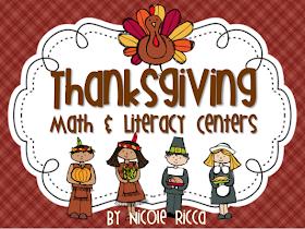 Thanksgiving Math & Literacy Centers + FREEBIES!