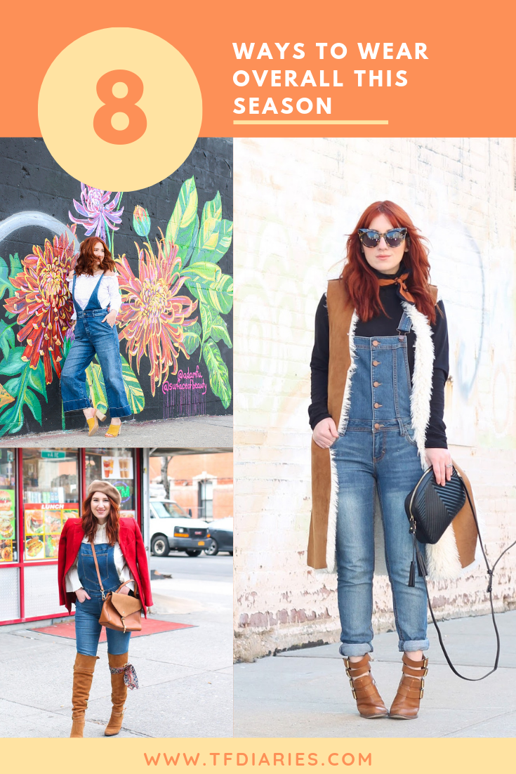 overalls, overalls styles, how to wear overalls, 8 ways to wear overalls, free people overalls, fall fashion, flashback fashion, 90s fashion, fall 2019 trends, how to wear overalls for fall, fall overalls