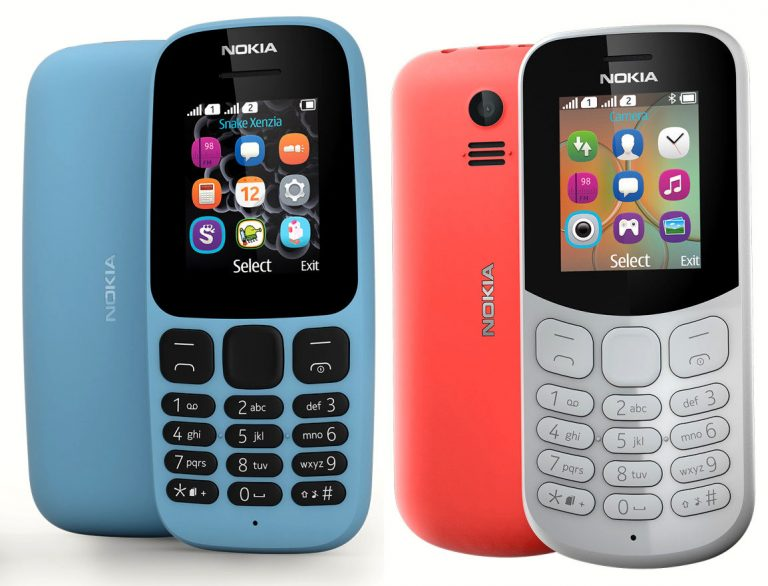 Nokia 105 and Nokia 130 2017 Edition : Full Hardware Specs, Features, Price and Availability