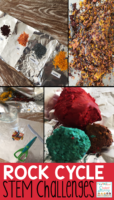 Rock Cycle STEM weathering and erosion