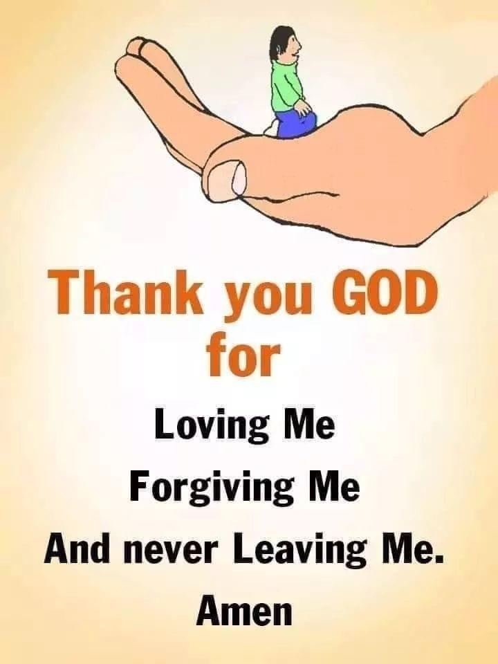 Thanks God For Loving Me