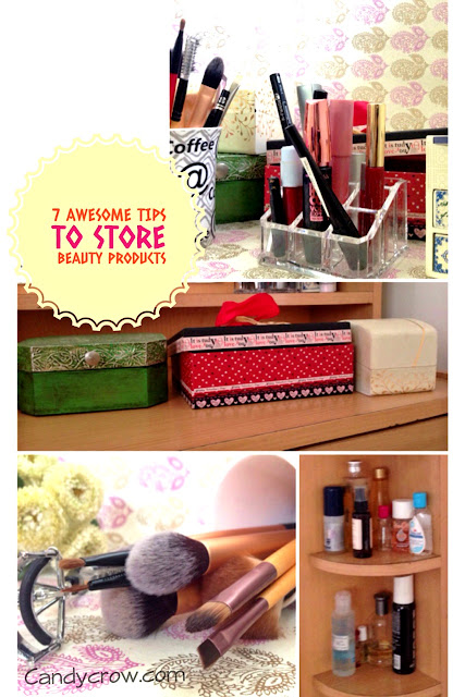 ideas to organise beauty products