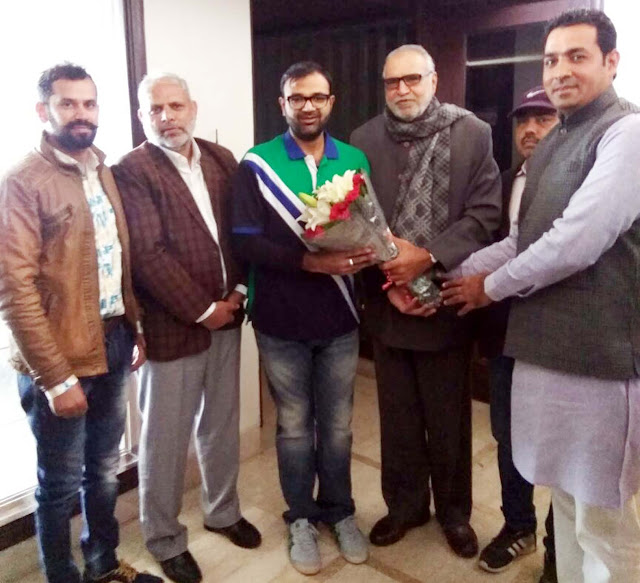 Ajay Bhadana congratulated Karan Singh Chautala for becoming Vice President of IOS