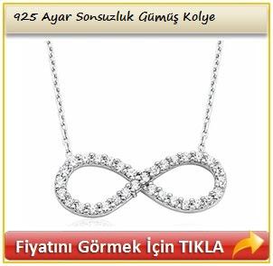 925 Ayar Sonsuzluk Gümüş Kolye