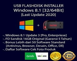 USB Flashdisk Installer Windows 8.1 Pro Enterprise + Paket Software