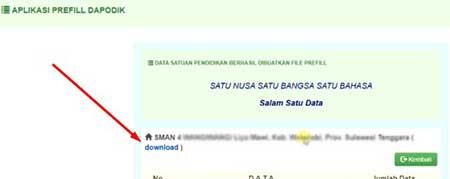 Cara download prefill untuk registrasi dapodik 2021.c