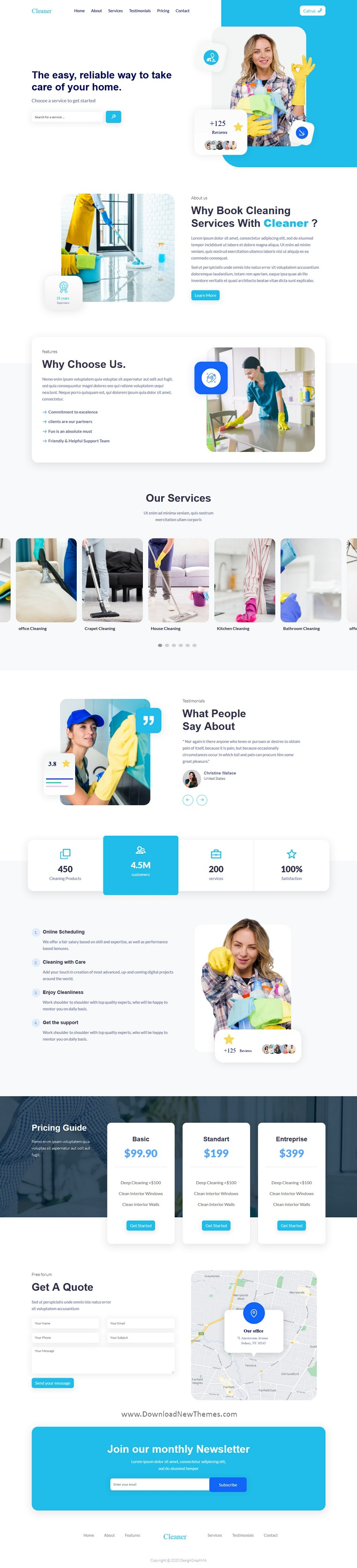 Cleaner Landing Page Template